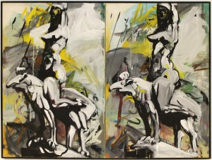 composit (heroine), 1983, acrylic on canvas, 110 x 200 cm