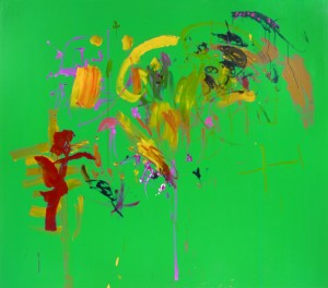 Assisted Painting Series, 1992, Green Lake, 210x240cm