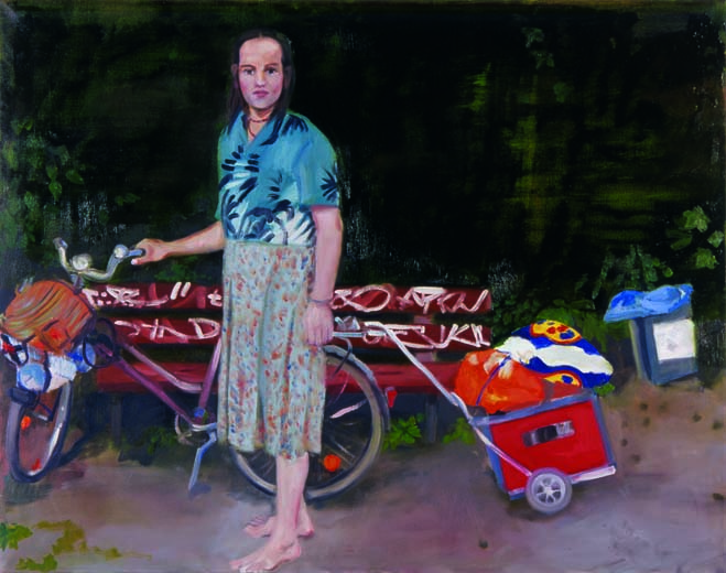 Der Zeuge, 2006, 100x150cm, oil on canvas