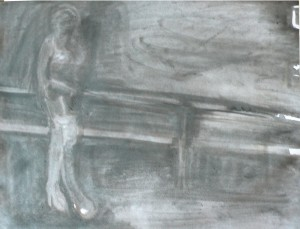 Street Worker, 2010, ink on paper, 45x60cm