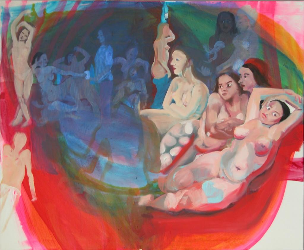 Ingres Irrtum, 2010, acrylics on canvas, 100x130cm