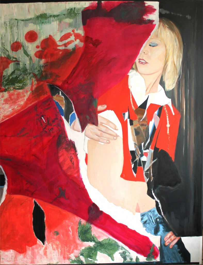 Caught red handed, 2014, oil on canvas, 200 x 155 cm