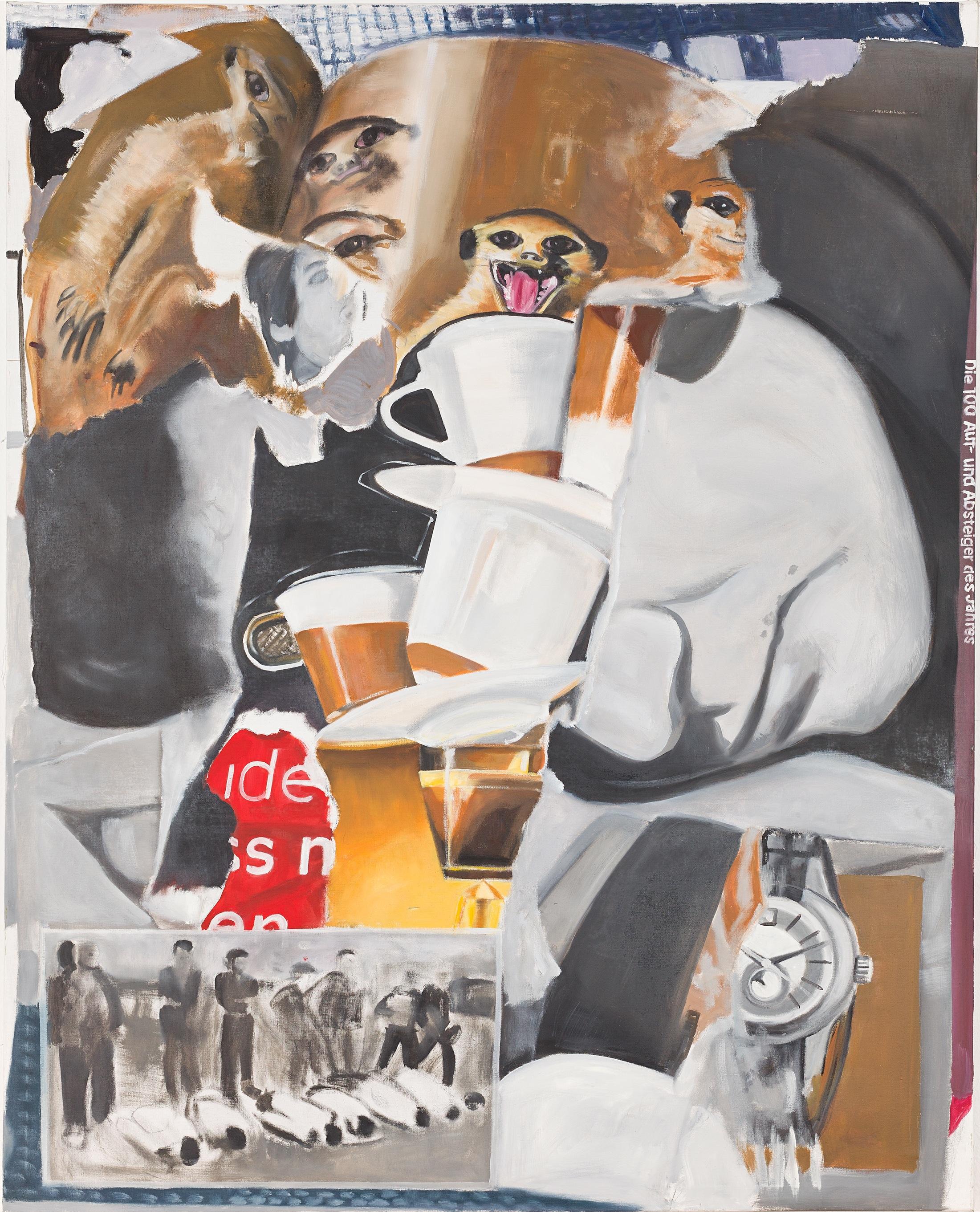 Schluss mit Mobben und Dissen, 2014, Oil on canvas, 200x155cm