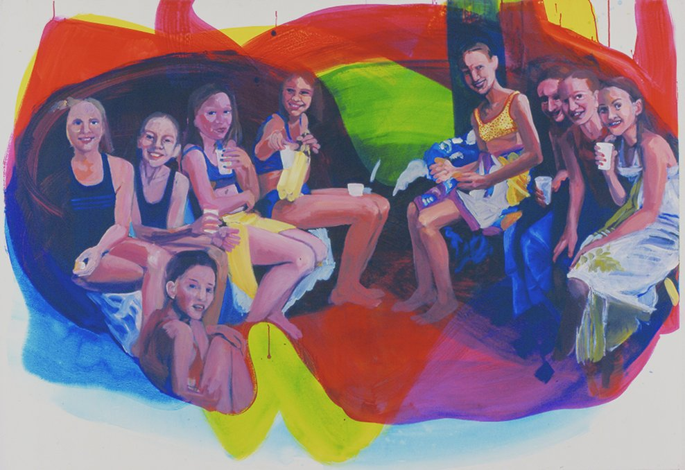 13. Geburtstag, 2006, acrylic on canvas, 60 x 80cm
