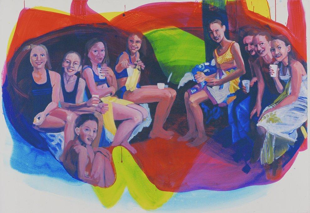 13. Geburtstag, 2006, acrylic on canvas, 60 x 80cm