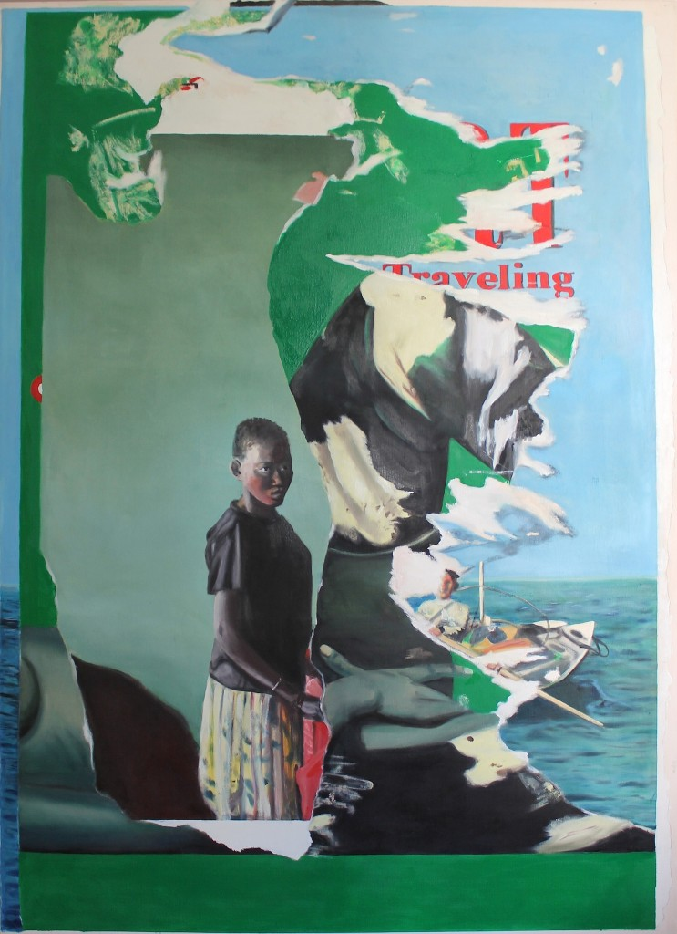 Travelling, 2014, oil on canvas, 210 x 150cm,