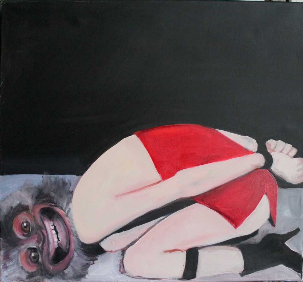 monkey, 2013, oil on canvas, 90x95cm