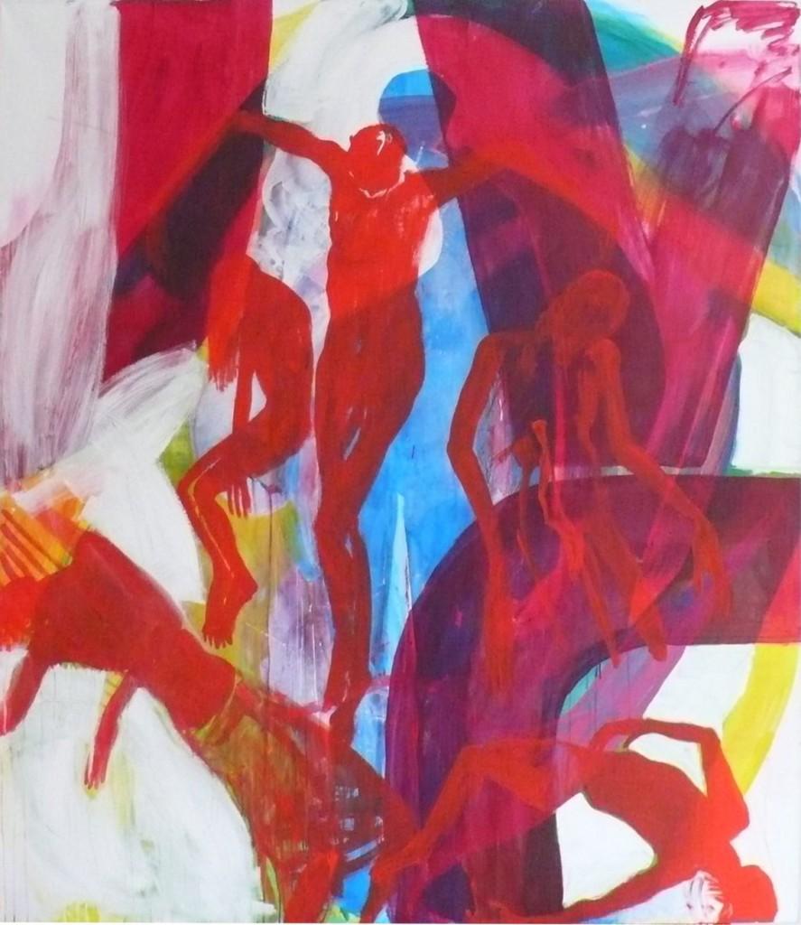 Kreuzabnahme, 2007, oil and acrylic on canvas, 220 x 190 cm