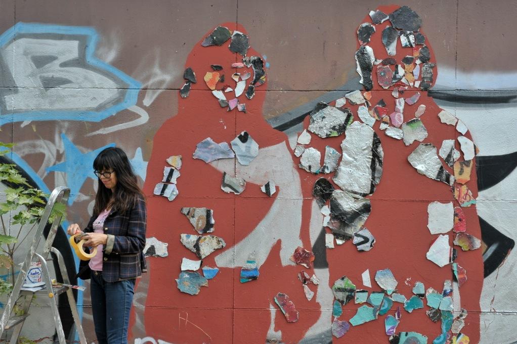 HeldInnen des Hedonismus, Broken Graffiti no2, als Teil von Faszination und Fassade, Künstlerische Einmischung in Potsdam