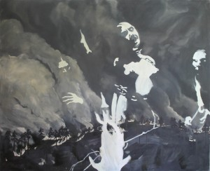 Witch, from German desaster series 1986, oil on canvas, 155 x 190 cm