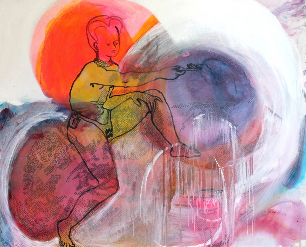 Handing the keys of yourself to a Black Hole, 2009, acrylics on canvas, 120x130cm