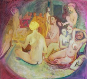 Turkish Bath re-loaded, 2008, oil on canvas, 130x140cm