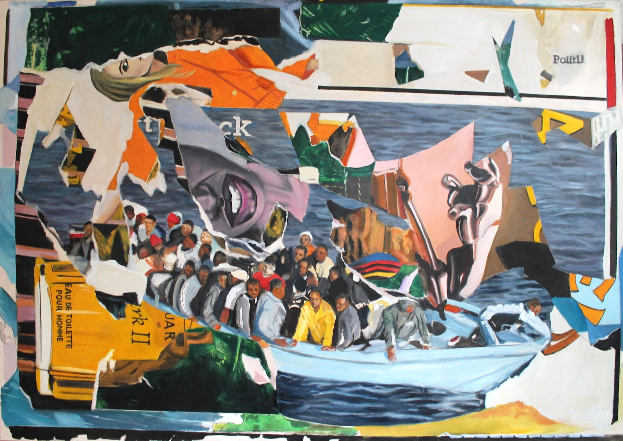 2014 – 15: Décollage paintings/A Stunning Left Hook