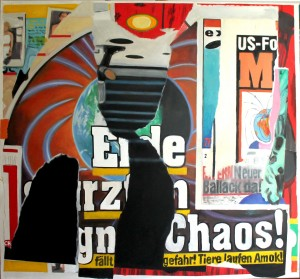 Erde im Chaos, 2014, oil on canvas, 150x160cm